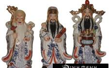 Ý nghĩa của tượng 3 vị thần Phúc, Lộc, Thọ trong khoa học phong thủy