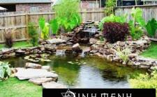 Ao hồ đại diện cho yếu tố tiền bạc trong ngôi nhà