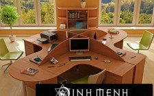 Bài trí bàn làm việc cho người làm công việc sổ sách