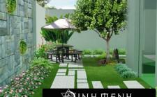 Bài trí sân vườn tràn ngập sinh khí