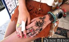 Mẫu hình xăm henna nghệ thuật Ấn Độ