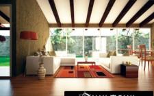 Màu sắc sàn phòng khách theo phong thủy