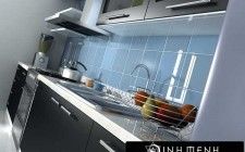 Bố trí hài hòa cho các vật dụng đối lập trong nhà bếp