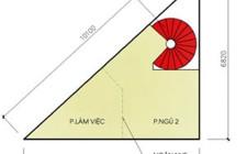 Thiết kế nhà hạn chế điểm xấu của những mảnh đất hình tam giác